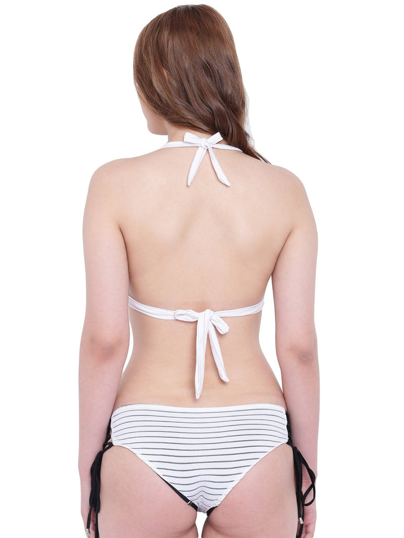 La Intimo White Female Seashow Bikini Resort/Beach Wear Polyester Spandex Swimwear