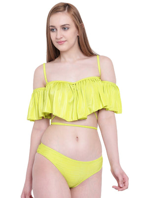 Ruffle Buffle Bikini Swimwear Two Piece