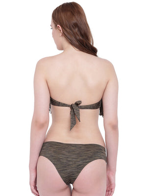 La Intimo Olive Melange Female  Bea Chick Bikini Resort/Beach Wear Polyester Spandex Swimwear