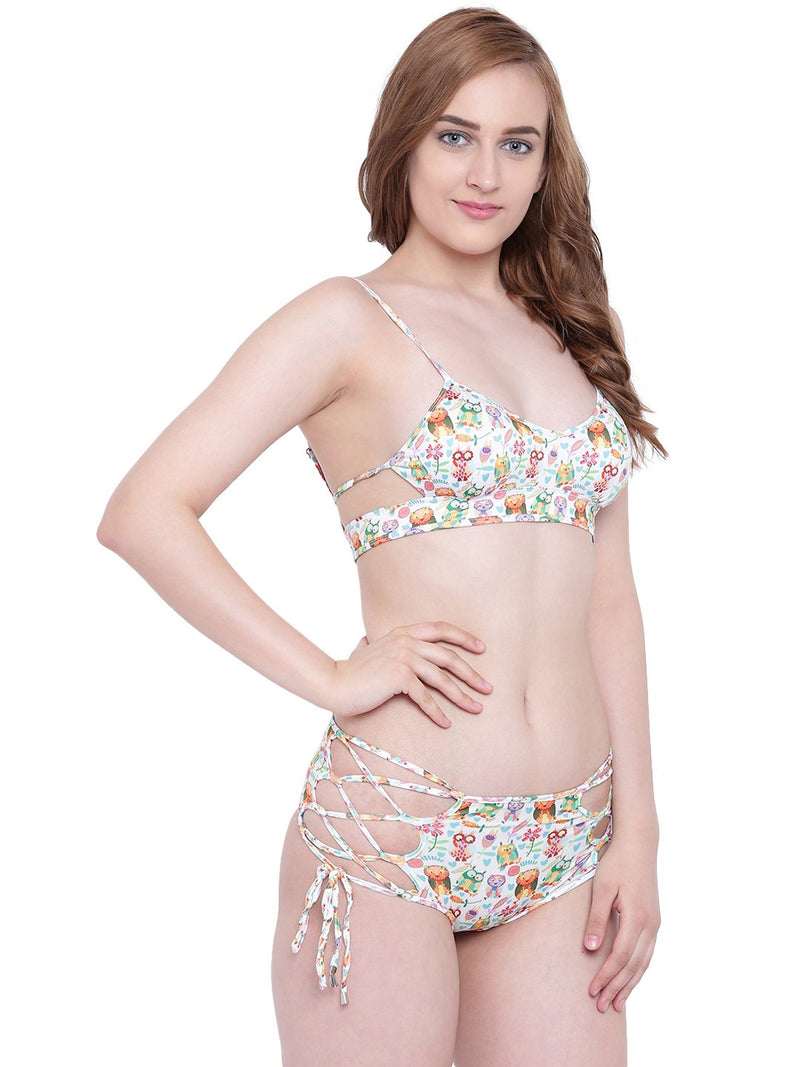La Intimo SP-Owl Female Lakeside Bikini Resort/Beach Wear Polyester Spandex Swimwear