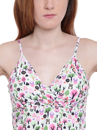 La Intimo MP-Owl Female Fash Melange Tankini Resort/Beach Wear Polyester Spandex Swimwear