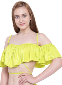 La Intimo ,Female,La Intimo Ruffle Buffle Cold Shoulder Bra,Female,LIFBR007LP0_38B