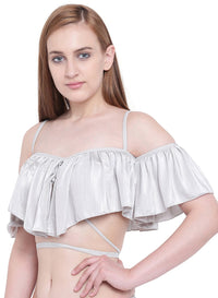 La Intimo ,Female,La Intimo Ruffle Buffle Cold Shoulder Bra,Female,LIFBR007LR0_38B