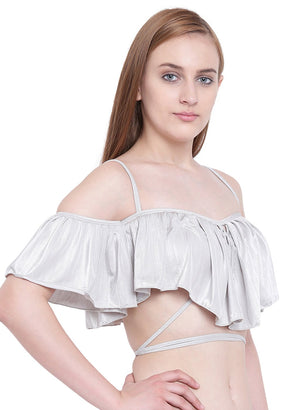 La Intimo ,Female,La Intimo Ruffle Buffle Cold Shoulder Bra,Female,LIFBR007LR0_38C