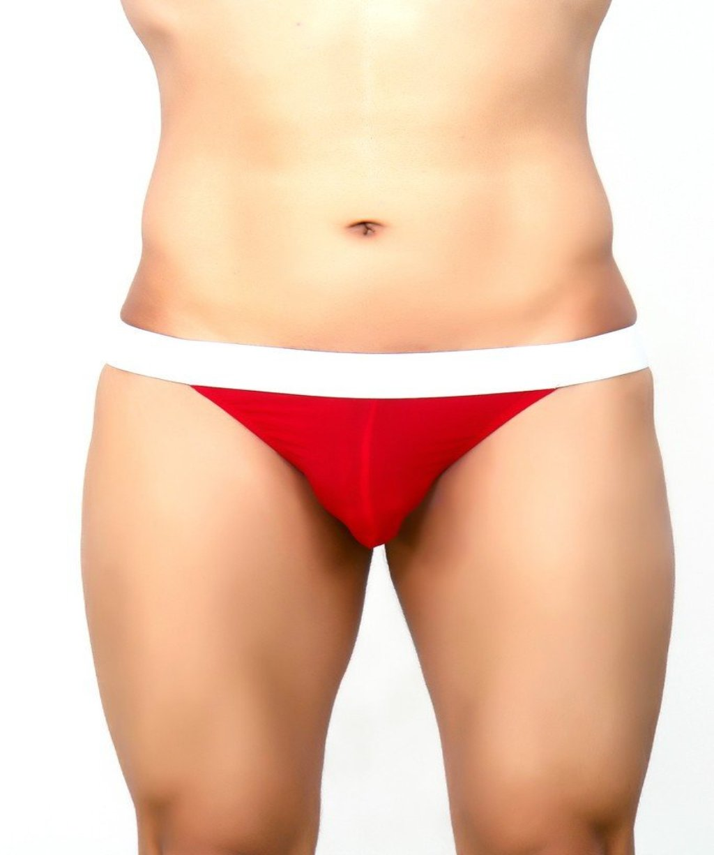 La Intimo Red Men Jock String Nylon Spandex GString