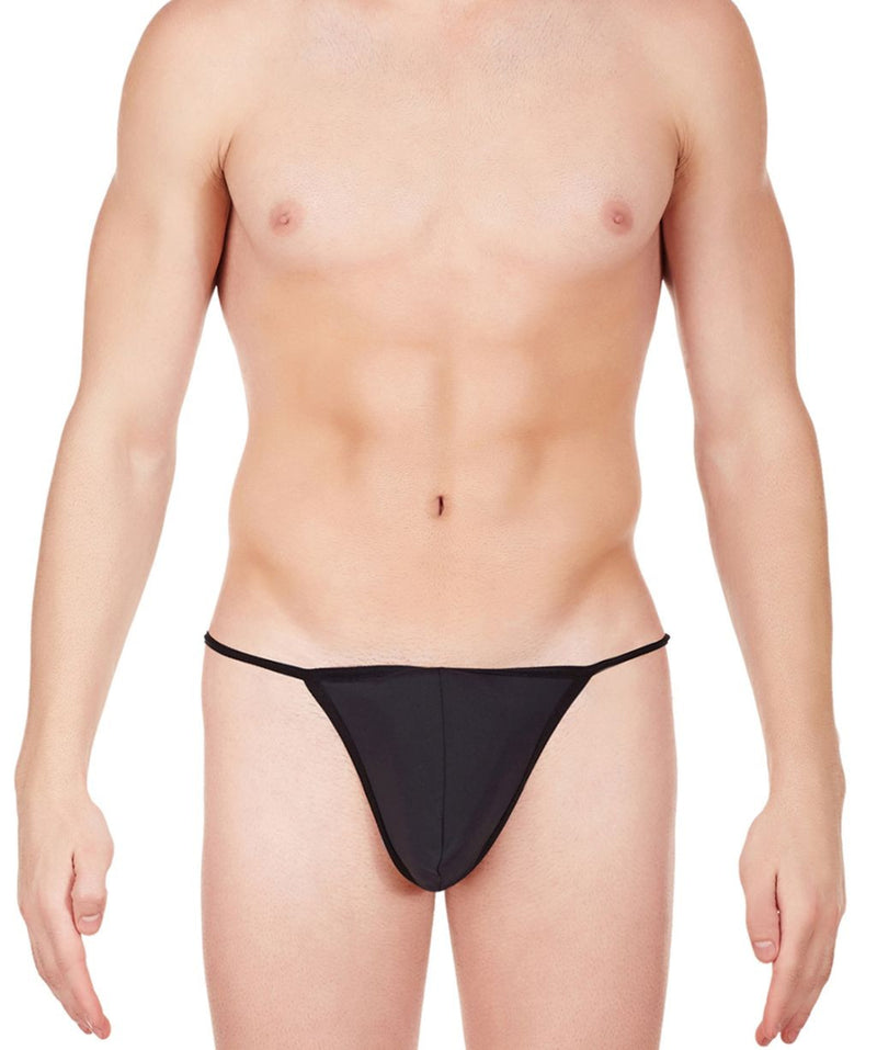 La Intimo Black Men Ring String Nylon Spandex GString
