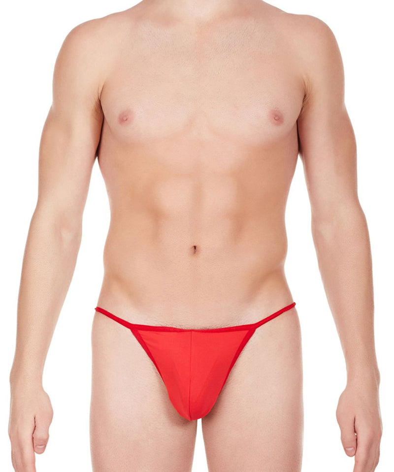 La Intimo Red Men Ring String Nylon Spandex GString