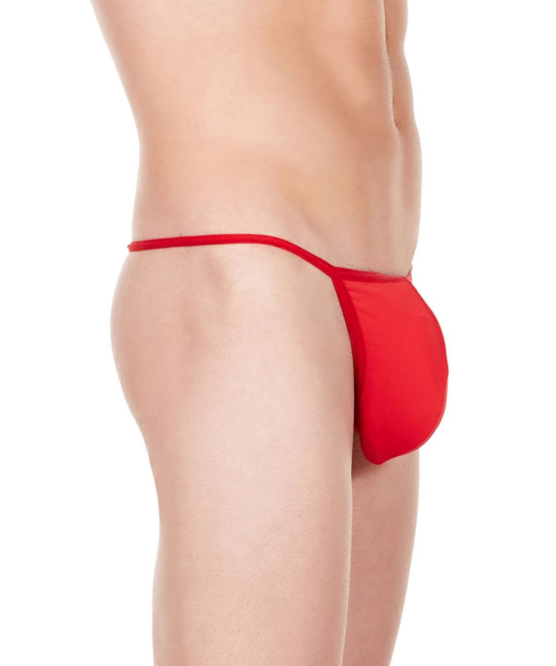 La Intimo Red Men Minimizer Thong Nylon Spandex GString