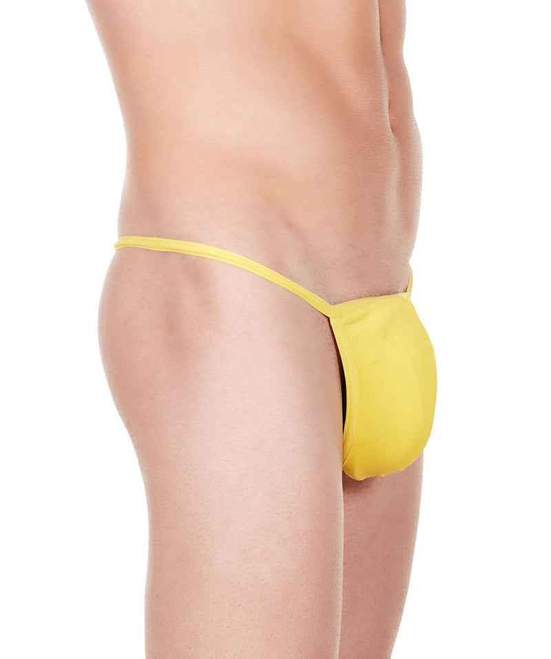 La Intimo Yellow Men Minimizer Thong Nylon Spandex GString