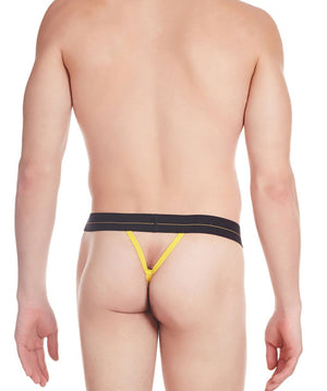 La Intimo Yellow Men Minimizer Nylon Spandex GString