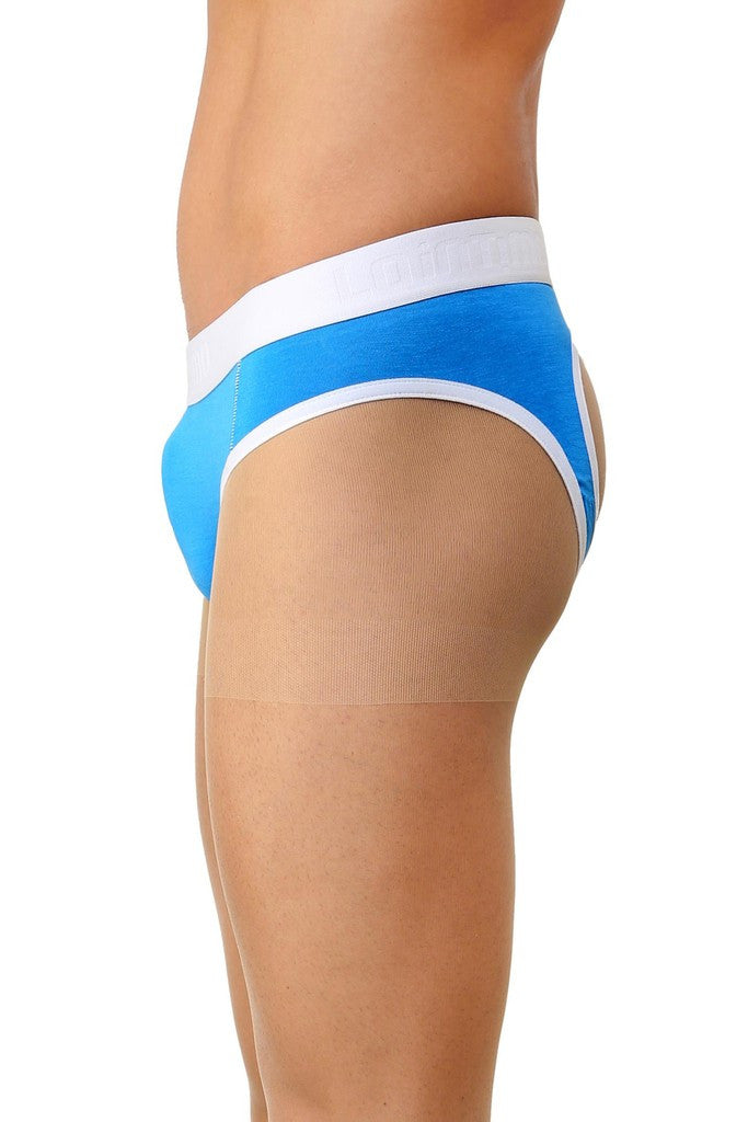 La Intimo Blue Men Holiday Sportswear Cotton Spandex Jockstrap