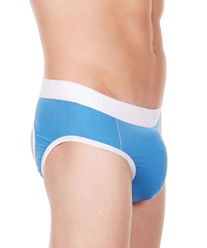 La Intimo Blue Men Window Gymwear Cotton Modal Spandex Jockstrap