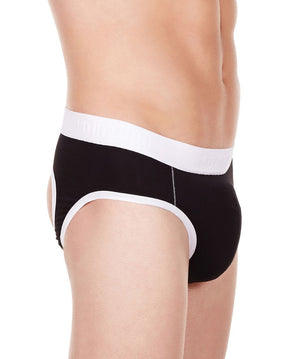 La Intimo Black Men Window Gymwear Cotton Modal Spandex Jockstrap