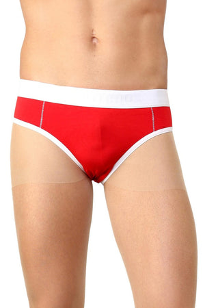 La Intimo Red Men Holiday Cotton Spandex Jockstrap