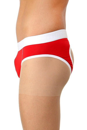 La Intimo Red Men Holiday Sportswear Cotton Spandex Jockstrap