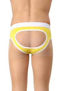 La Intimo Yellow Men Holiday Gymwear Cotton Spandex Jockstrap