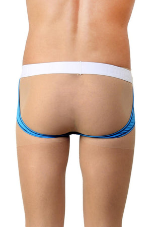 La Intimo Blue Men Real Feel Gymwear Cotton Modal Spandex Jockstrap
