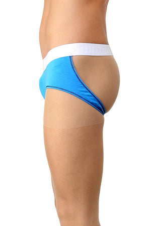 La Intimo Blue Men Real Sportswear Cotton Modal Spandex Jockstrap