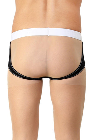 La Intimo Black Men Real Feel Gymwear Cotton Modal Spandex Jockstrap