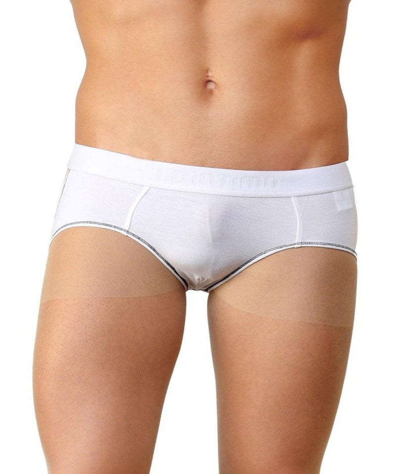 La Intimo White Men Real Feel Infinity Cotton Modal Spandex Jockstrap