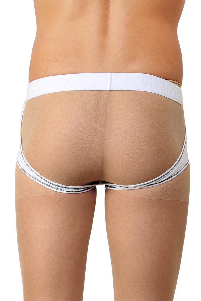 La Intimo White Men Real Feel Gymwear Cotton Modal Spandex Jockstrap