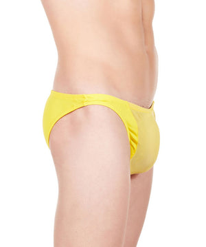 La Intimo Yellow Men Mesh Brief Polyester Spandex Briefs