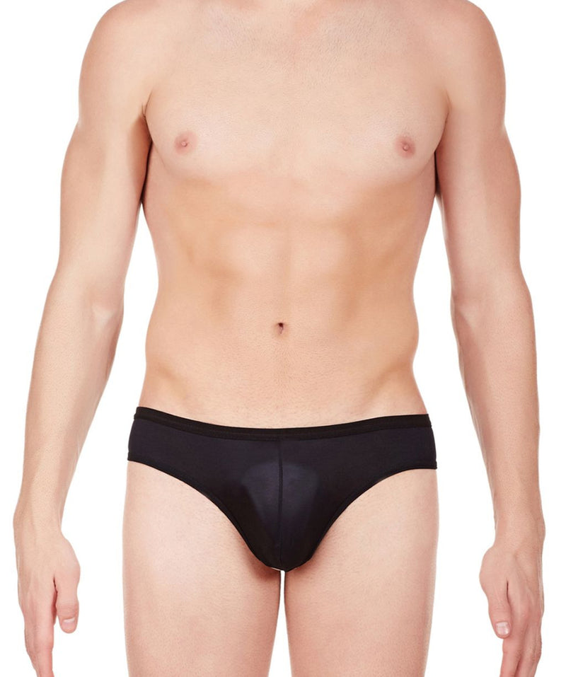 La Intimo Black Men Balls Out Polyester Spandex Briefs