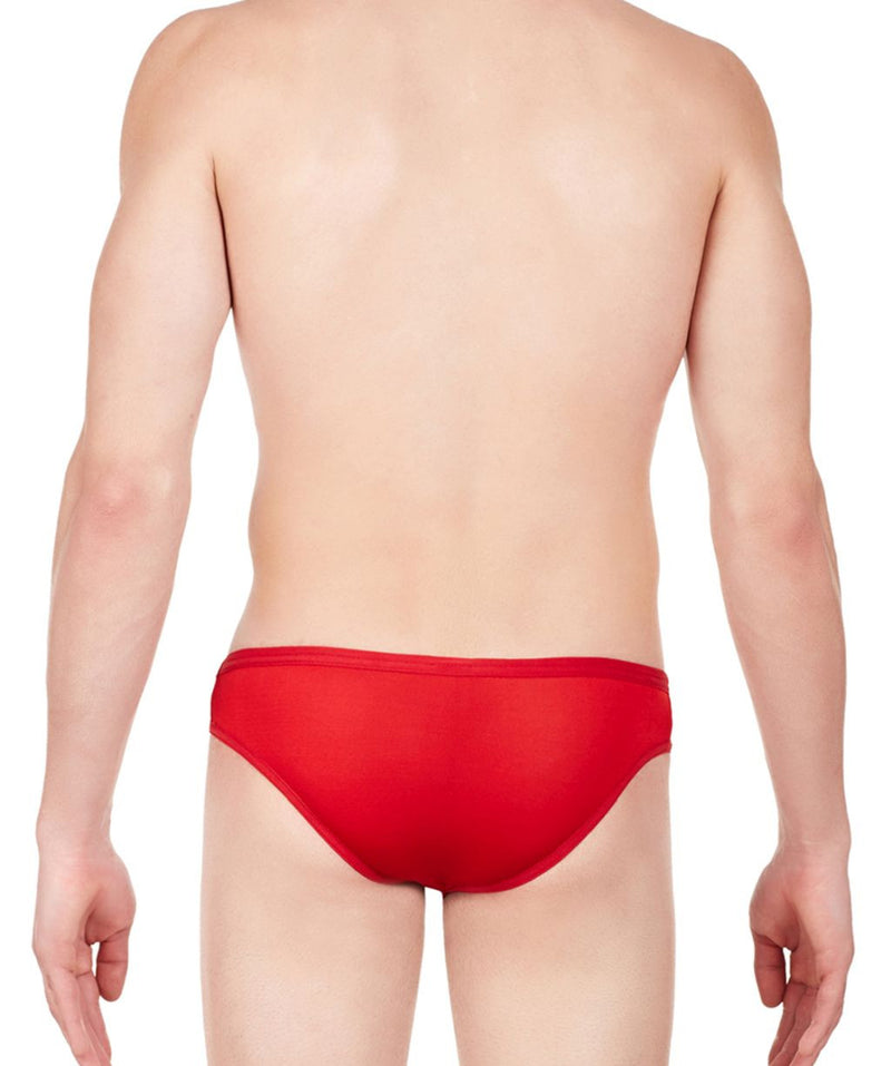 La Intimo Red Men Regular Polyester Spandex Briefs