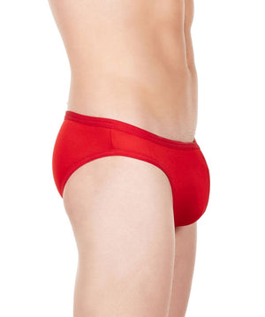La Intimo Red Men Bikini Brief Polyester Spandex Briefs