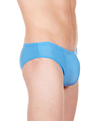 La Intimo Blue Men Butt Minicheek Nylon Spandex Briefs