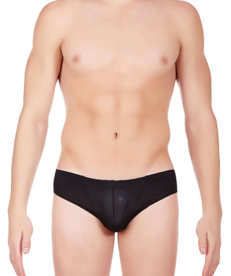La Intimo Black Men BL Minicheek Nylon Spandex Briefs