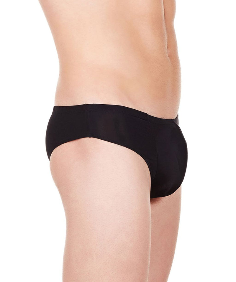 La Intimo Black Men Butt Minicheek Nylon Spandex Briefs