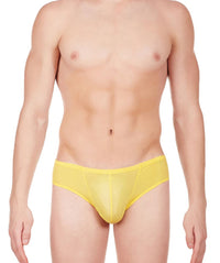 La Intimo Yellow Men BL Minicheek Nylon Spandex Briefs
