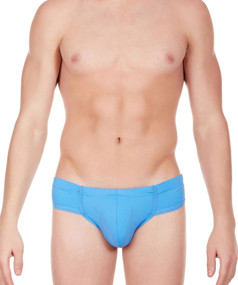 La Intimo Blue Men Just Cut Minicheek Nylon Spandex Briefs