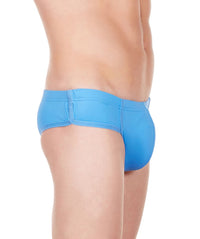 La Intimo Blue Men Bikini Minicheek Nylon Spandex Briefs