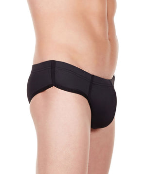La Intimo Black Men Bikini Minicheek Nylon Spandex Briefs