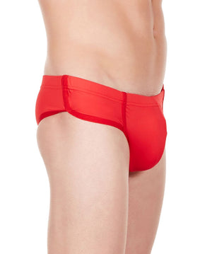 La Intimo Red Men Bikini Minicheek Nylon Spandex Briefs