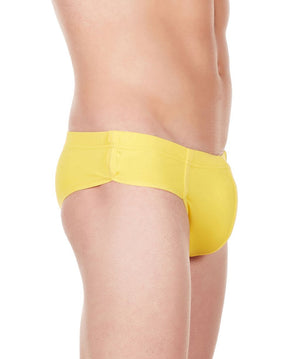 La Intimo Yellow Men Bikini Minicheek Nylon Spandex Briefs