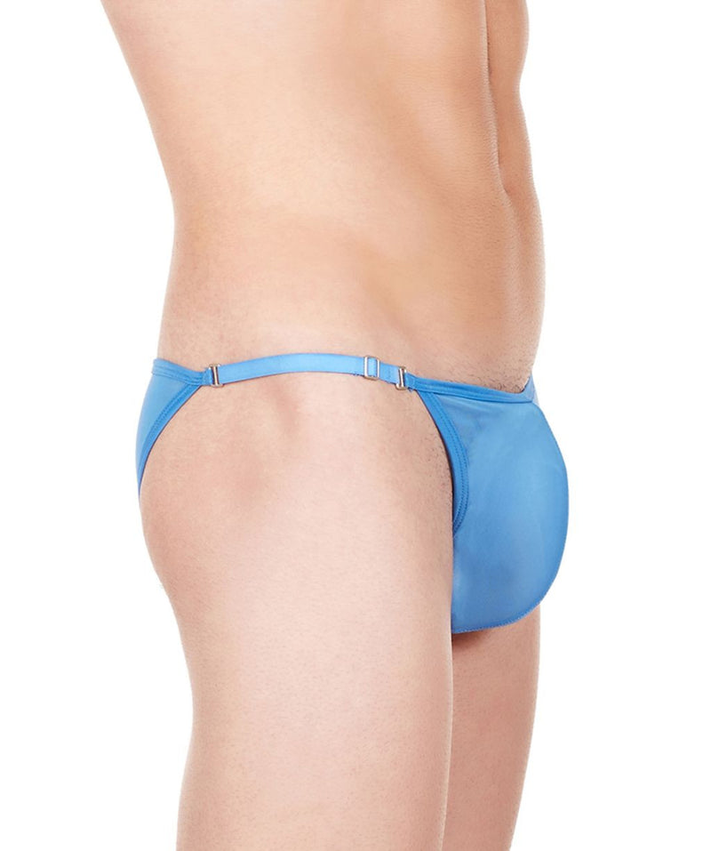 La Intimo Blue Men Mesh Bikini Nylon Spandex Briefs