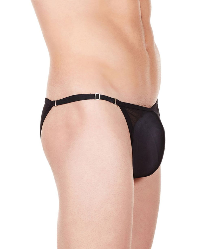 La Intimo Black Men Mesh Bikini Nylon Spandex Briefs