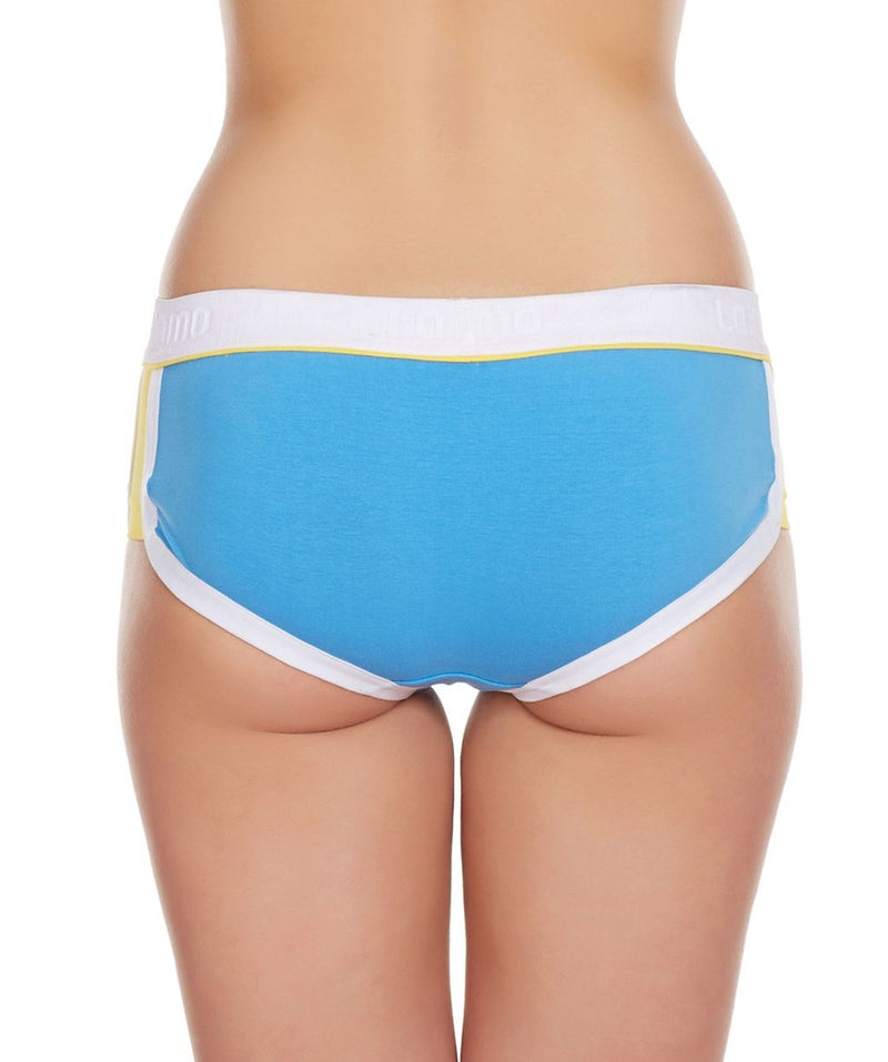 LaIntimo Blue Female Innerwear Retro Look Cotton Spandex Hipster