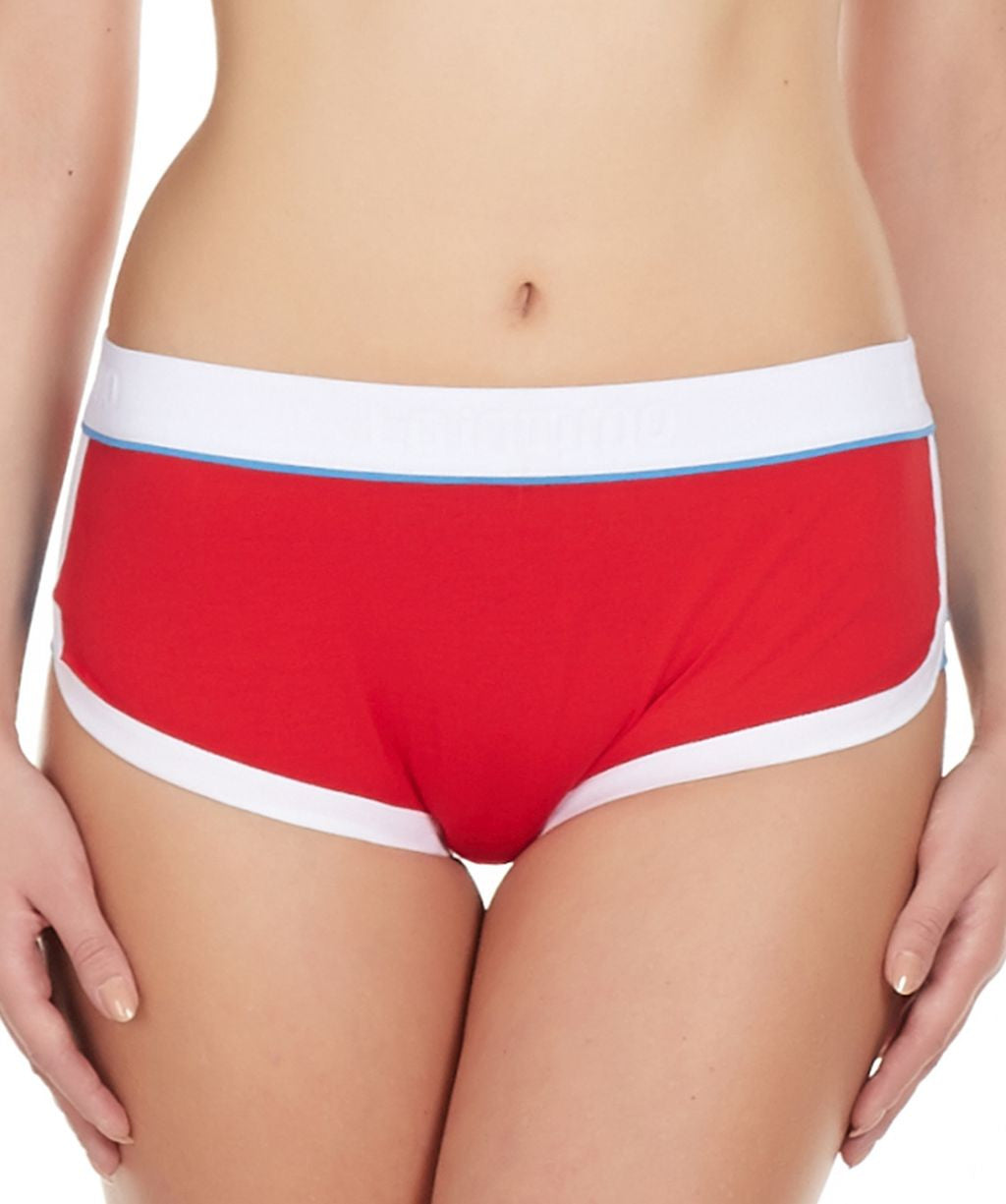 La Intimo Red Women Retro Look Cotton Spandex Hipster