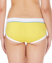 LaIntimo Yellow Female Innerwear Retro Look Cotton Spandex Hipster