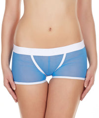 La Intimo Blue Women Power Net Nylon Spandex BoyShort