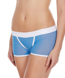 La Intimo Blue Women Innerwear Power Net Nylon Spandex BoyShort