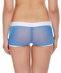 La Intimo Blue Women Panty Power Net Nylon Spandex BoyShort
