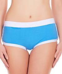 La Intimo Blue Women Greek Cotton Spandex Hipster