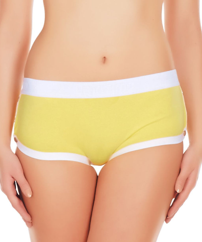 La Intimo Yellow Women Greek Cotton Spandex Hipster