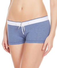 La Intimo Blue Women YKK Zip Cotton Spandex BoyShort