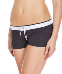 La Intimo Charcoal Women YKK Zip Cotton Spandex BoyShort
